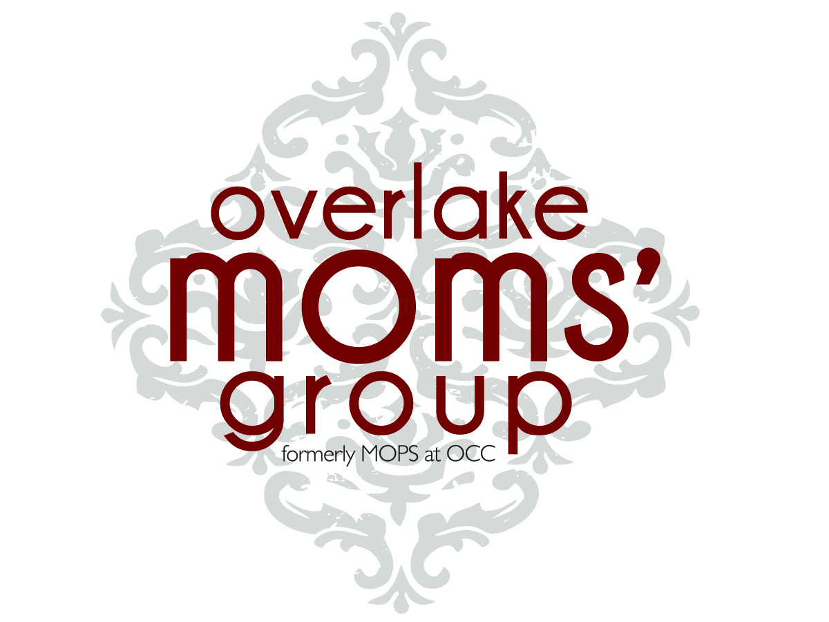 Overlake Moms Groups logo nametag